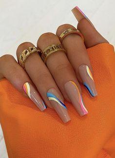 Drip Nails, Glow Nails, Bling Acrylic Nails, Acrylic Nails Coffin Short, Best Acrylic Nails, Ballerina Acrylic Nails, Acrylic Nails Pastel, Blue Coffin Nails, Glitter Nails