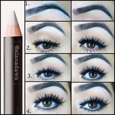 Beauty Tricks: White Eyeliner! #AlanaDawn #ladyartlooks #beauty #TUTORIAL #howto - bellashoot.com