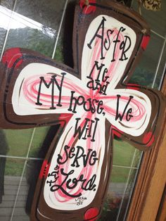 Beautiful hand painted on wood door hanger. Glitter finish. Deco mesh bow included. A saying or name can be added at no cost. Feel free to