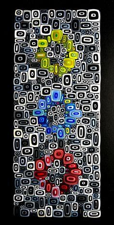 "Could be a ""Mosaic quilt"" - David Pascoe - quilt inspiration I imagine a felt penny rug"