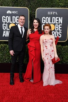 Peter Krause, Jane Levy, Lauren Graham, Strapless Dress Formal, Formal Dresses, Fan Edits, Red Carpet Event, Golden Globes, Famous People