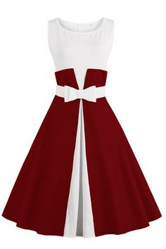 Chicloth One More Time Cute Bow Vintage Dress-Cheap Casual Dresses Casual Dresses, Short Dresses, Fashion Dresses, Girls Dresses, Dress Outfits, Vintage 1950s Dresses, Vestidos Vintage, Vintage Outfits, Vintage Clothing