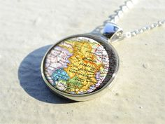 Serbia map pendant, Montenegro map necklace pendant,Kosovo map jewelry pendants,map pendant charm- M5801CP