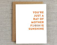 Funny Friendship Card, Funny Card for Friend, Hello Card, Any Occasion Card, Thank You Card, Blank Card, Note Card, Sarcastic Card, Curse