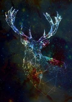 #animal #veado #cervo #arte #psicodélico