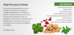 Kalp koruyucu salata tarifi...