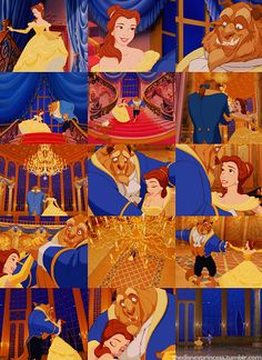 Day 23: FAVORITE DANCE SCENE  When Belle dances with the Beast. I love everything about this. The room, her dress, the music playing. It will always and forever be my favorite dance scene.