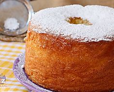 CHIFFON CAKE ricetta ciambellone americano senza burro