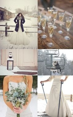 Not every wedding needs to be in June! Use the elements in your favor. Make your wedding one that every guest will remember!      Repin by Inweddingdress.com    #winterwedding