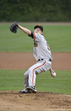 Tim Lincecum pitches against the Cubs - September 1, 2012