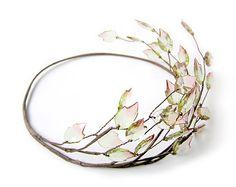 Leaf Crown Leaf Hair Wreath Greek Leaf Headband by curtainroad