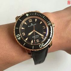 blancpain fifty fathoms rose gold