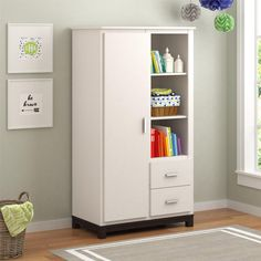 Cosco Leni 2 Drawer Armoire - White Stipple - 5924216COM
