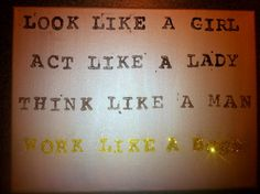 Work like a Boss quote painting by artBYamylav on Etsy, $26.00