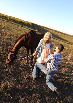 The man I am going to marry is the one who gets down on one knee to give me a leg up onto a horse and who gets down on one knee to propose after a long trail ride. ID DIE Proposal Pictures, Engagement Pictures, Wedding Engagement, Engagement Ideas, Wedding Pictures, Wedding Ideas, Country Proposal Ideas, Rose Wedding, Dream Wedding