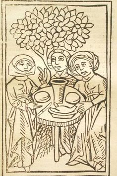 De laniis et phitonicis mulieribus Ulrich Molitor, 1489. Woodcuts from a German treatise on witches  Magic Meal