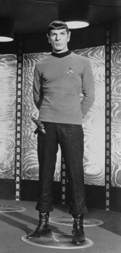 Mr. Spock. Gotta love a giant space elf packin' his own glue gun in case of crafting emergency!