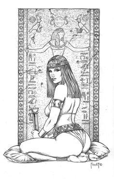 Scribe's Handmaiden by MitchFoust.deviantart.com on @deviantART