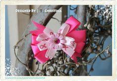 Breast Cancer Awareness  Hair Bow by south4winter on Etsy, $7.00