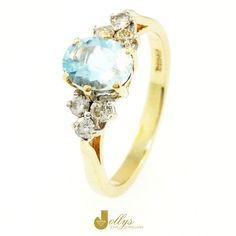 The Aquamarine is a member of the Beryl family, which also includes Emerald & Marganite!