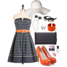 Navy & Orange Nautical Inspired, created by smgilreath.polyvore.com