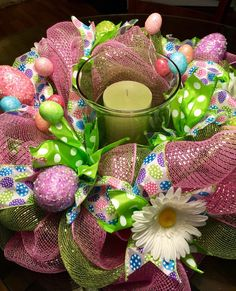 Easter Centerpiece, Whimsical Easter Decor, Easter Table, Modern Easter Decor, Deco Mesh Easter, Easter Accesories, Easter Egg Decor by ThePinkGardenias on Etsy https://www.etsy.com/listing/269351085/easter-centerpiece-whimsical-easter