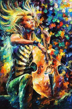 Music Soul — PALETTE KNIFE Oil Painting On Canvas by AfremovArtStudio, $249.00