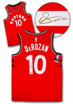 9b6b7ded56e Demar DeRozan Toronto Raptors Autographed Red Nike® Swingman Basketball  Jersey #TorontoRaptors