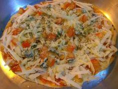 A Receita de Pizza de Frigideira, enviada pelo Marcio de Aguiar é ótima para quebrar o conceito de que é preciso um forno para fazer pizzas.