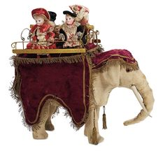 "Theriaults. A rare and delightful French automaton ""The Elephant Rides"" by Roullet et Decamps. identified as ""Elephant acclimatation"",referencing the famous Parisian zoological park ""Jardin d'Acclimation"" whose elephants and elephant rides were popular attractions during the latter 1800s. Circa 1890. Upcoming at Theriaults' Stein am Rhein auction on March 29th and 30th, 2014 in Naples Florida. For more info please visit: www.theriaults.com/"