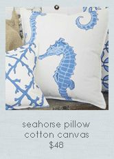 Seaside Inspired | Beach Decor | sealife pillows from SeasideInspired.com.