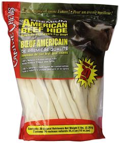 Premium American Beef Hide Natural Rawhide 20 Pack 10 Inches ** You can get more details by clicking on the image. (This is an affiliate link and I receive a commission for the sales)