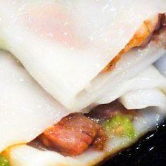 바베큐 돼지 고기 국수 롤