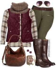 fae0a5bf156 Plus Size Outfit Idea - Khaki Skinnies