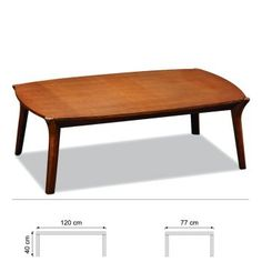Table Basse Marron Coco MIER, 120 x P 77 x H 40 cm