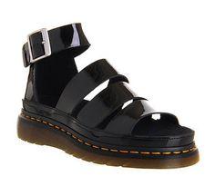 5fb57bac28f Dr. Martens Women`s Clarissa Chunky Strap Sandal Black Patent US 8 EU 39 UK  6