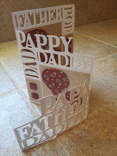 CCR, Cricut, Embossing Folder, Father's Day, Greeting Card, Karen Lockhart Stamps, Memory Box, POC, Spellbinders