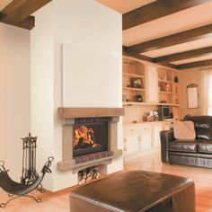 Hirondelle Kitchen, Allie, Fire Places, Home Decor, Design Ideas, Decoration, Brick And Stone, Home Remodeling, Wooden Beam