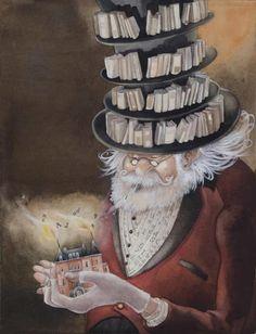 "Librarian, guardian of the words --  (illustration by:  Christelle le Guen)----""LEGGERE E' CONOSCERE...LEGGERE E' CAPIRE...LEGGERE E' CRESCERE...""(ⓛⓤⓐⓝⓐ).................."
