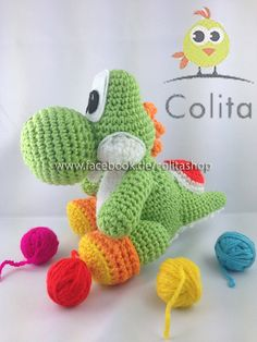 Yoshi Pattern crochet Amigurumi Wolly von Nintendo German PDF