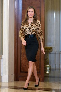 Princess Letizia attends audiences at Zarzuela Palace.