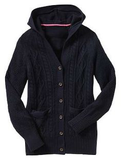 Uniform cable hooded cardigan | Gap
