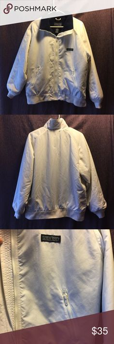 Lands' End Direct Merchants Vintage Squall Jacket Up for sale here is a Lands' End white puffy jacket .  Size (Women's):M(10-12), the measurements on it are approx 24 x 27 nice shape.  White with Navy Lining, slightly used. 100%Nylon Shell, 100%Polyester Lining. Come from a pets free and smoking free home. Lands' End Jackets & Coats