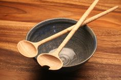 wooden micro salad serving set by KitchenCarvings on Etsy, $25.00