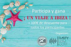 """Viajes con """"flow"""" y Party Low Cost se unen para ofrecerte la posibilidad de ganar ¡un viaje a Ibiza para 2 personas! Además solo por participar recibirás un descuento de 100€ para gastar en tu viaje. Consulta pinchando en la imagen los requisitos de participación. #sorteos #descuentos #promociones #premios #alicante #ibiza  https://www.facebook.com/viajesconflow/photos/a.674178589436447.1073741828.659766337544339/748767065310932/?type=3"""