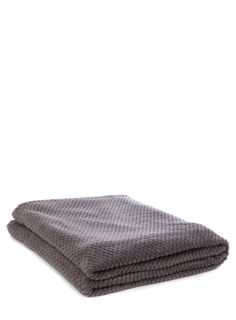 Dark grey waffle fleece - bedspreads & throws - bedspreads & throws - bedding - Home, Lighting & Furniture - BHS