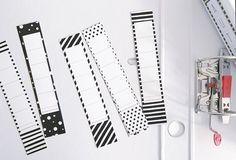 Farbmix Wald-Farben 3,7 cm breite Etiketten zum Beschriften 7 x selbstklebende Design R/ückenschilder f/ür schmale Akten-Ordner