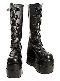 HOTTOPIC.COM - Demonia By Pleaser Stacked Strap Boots