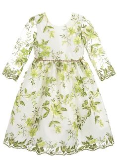 08842589389d Love this Graci Green Embroidered Tulle Dress. Perfect special occasion  dress for EID