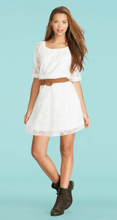 Allover Lace Dress (LOVE the boots too!!)